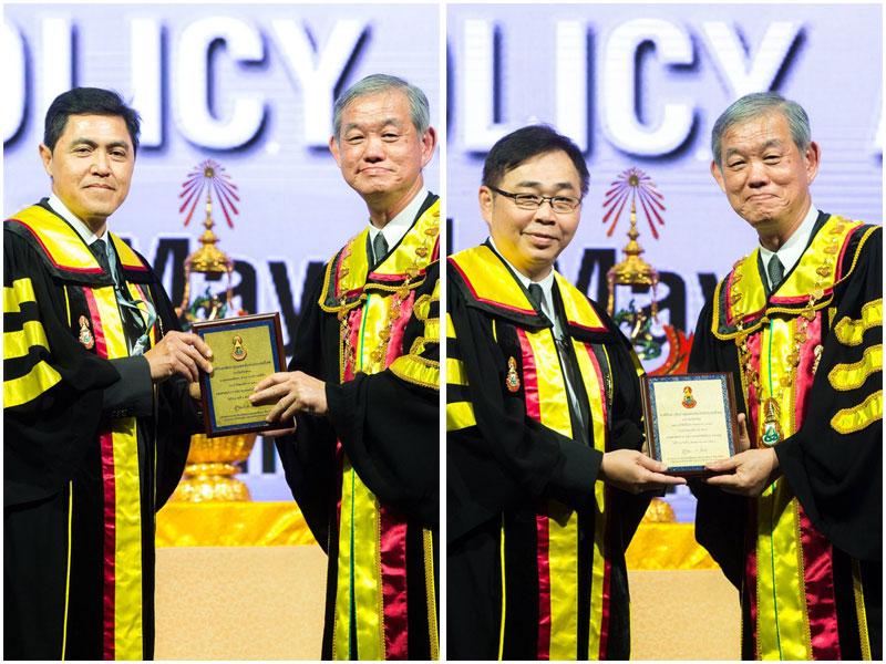 นพ.ทวีศักดิ์ แทนวันดี และ นพ.สมชาย ลีลากุศลวงศ์ รับรางวัลจากราชวิทยาลัย